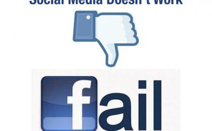 15 errori da non fare sui social network