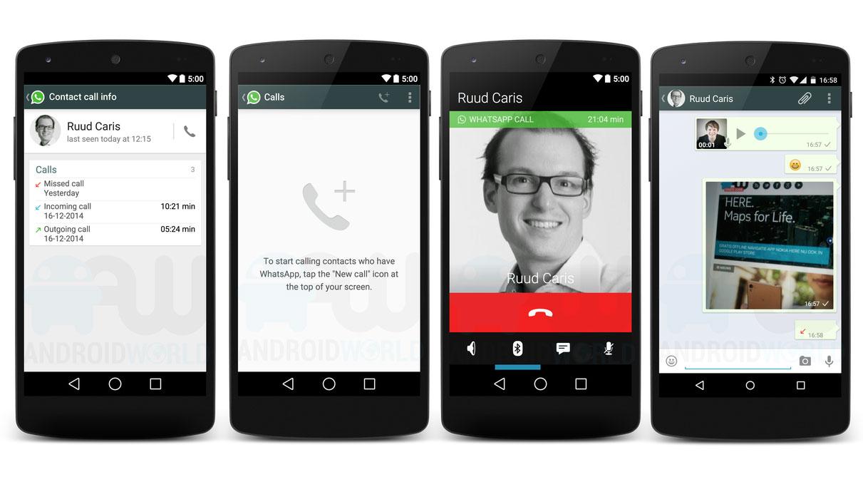 Chiamate WhatsApp su Android