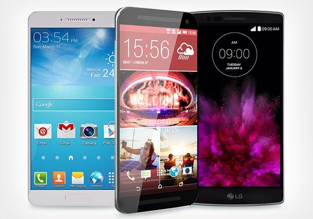 LG G Flex 2 HTC One M9 Samsung Galaxy Edge S6
