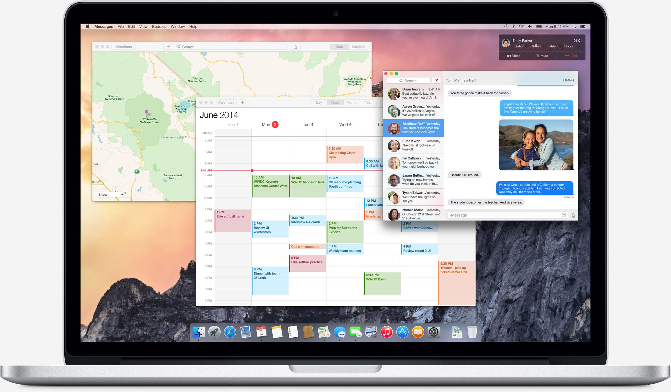 OS X 10.10 Yosemite su Mac