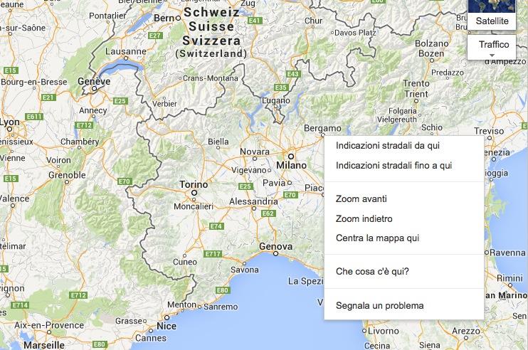 Google Maps calcola percorso punto a punto