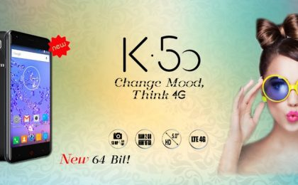 Komu K50 con Android 5.1 e processore 64-bit