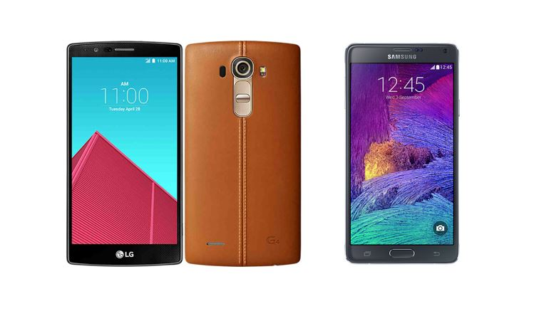 LG G4 vs Samsung Galaxy Note 4