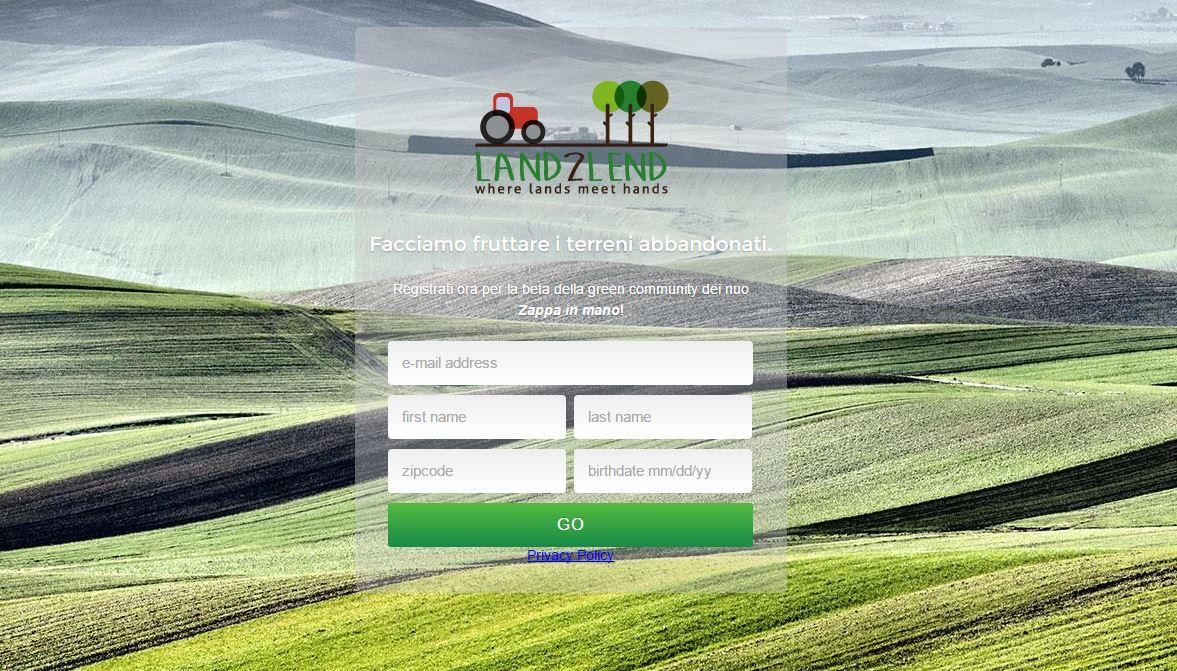 Land2Lend, coltivare la terra per far ripartire l'Italia