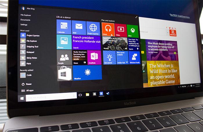 Windows 10 vs Mac OS X: più veloce su MacBook?