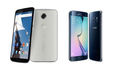 Motorola Nexus 6 vs Samsung Galaxy S6 Edge: il confronto