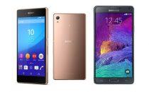 Sony Xperia Z3+ vs Samsung Galaxy Note 4: differenze e confronto