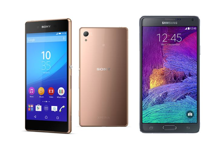 Sony Xperia Z3+ vs Samsung Galaxy Note 4