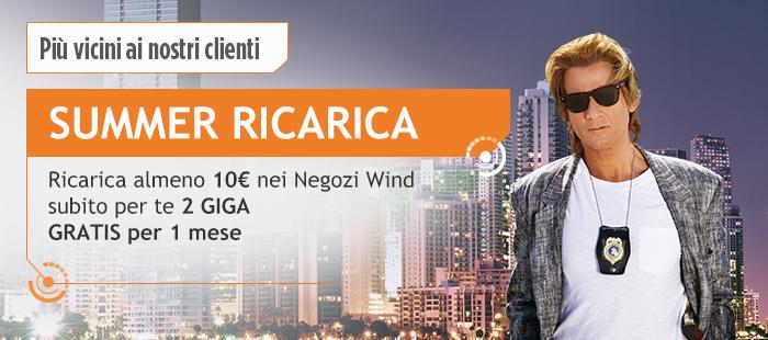 Wind Summer Ricarica: prezzi e dettagli della promozione