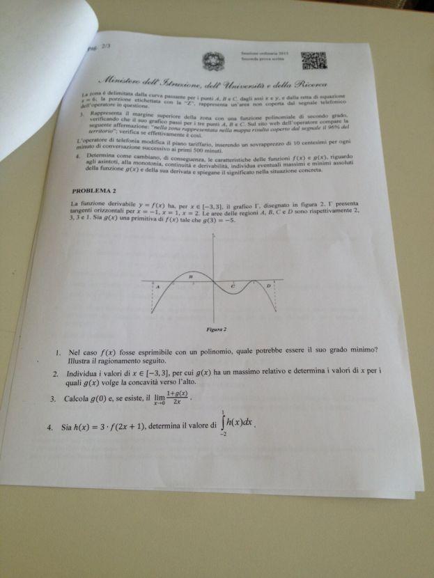 maturita prova matematica 2015 problema 2