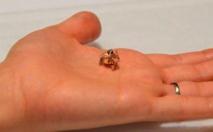 Mini robot in grado di spostarsi e autodistruggersi