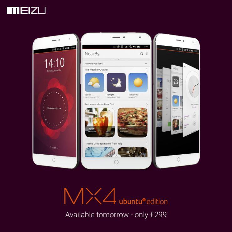Meizu MX4 Ubuntu prezzo