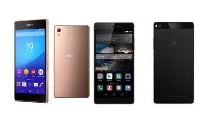 Sony Xperia Z3+ vs Huawei P8: paragone e confronto