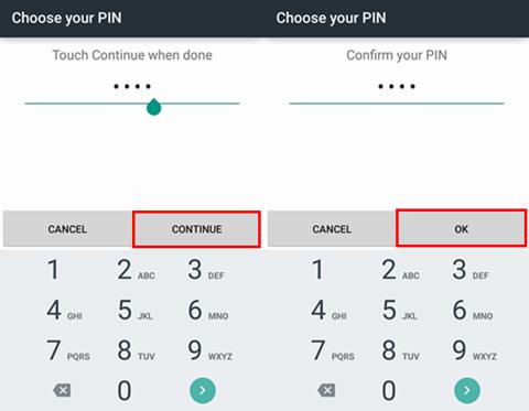 Codice Pin android impostazioni