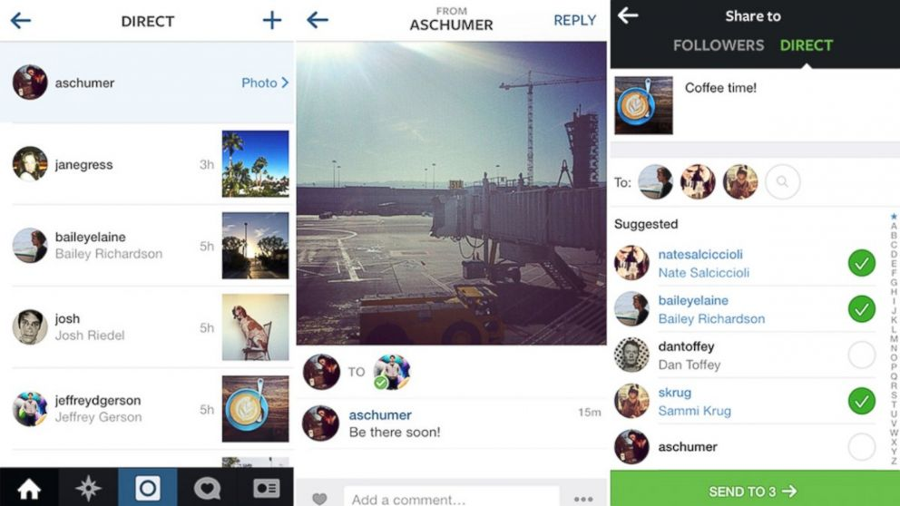 Gruppi su Instagram Direct