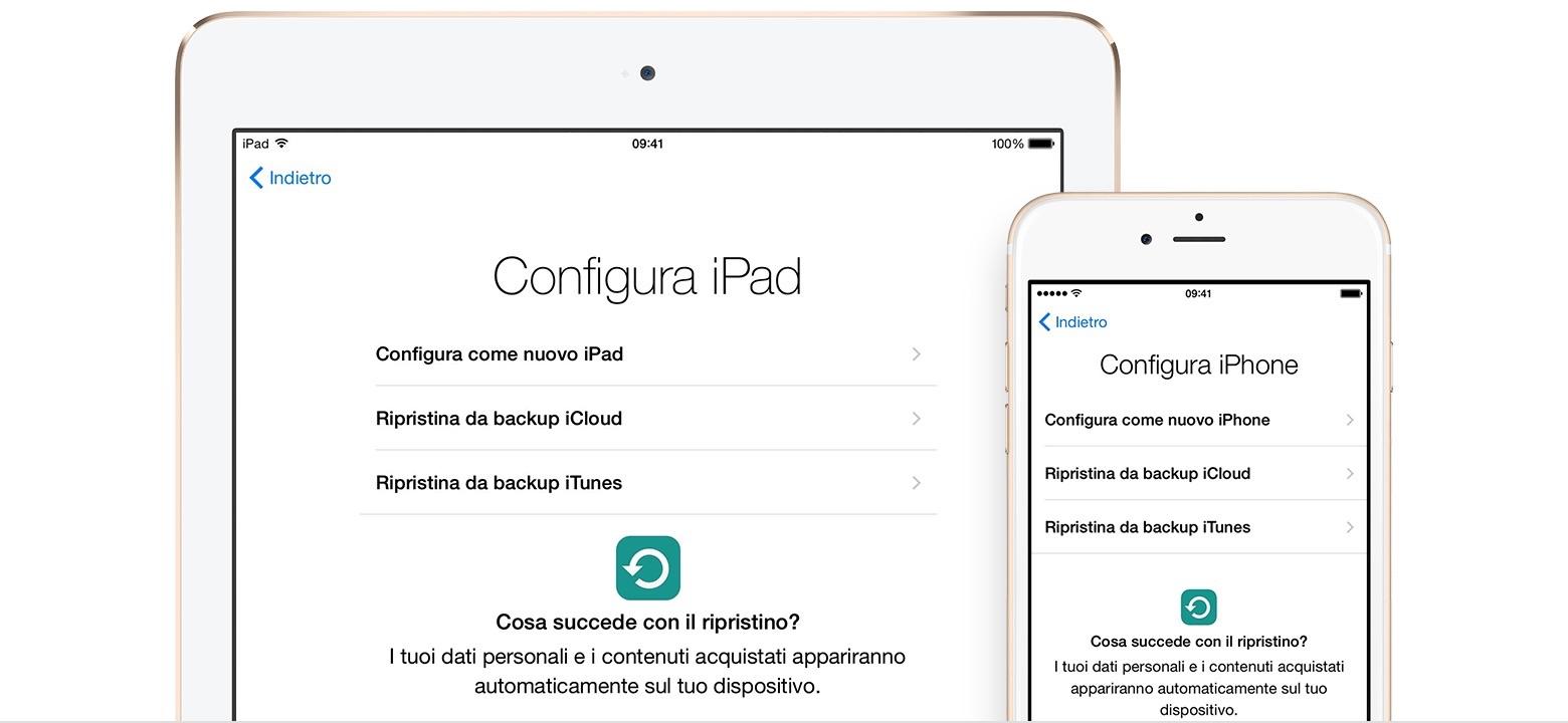 Recuperare contatti iPhone e iPad da iCloud