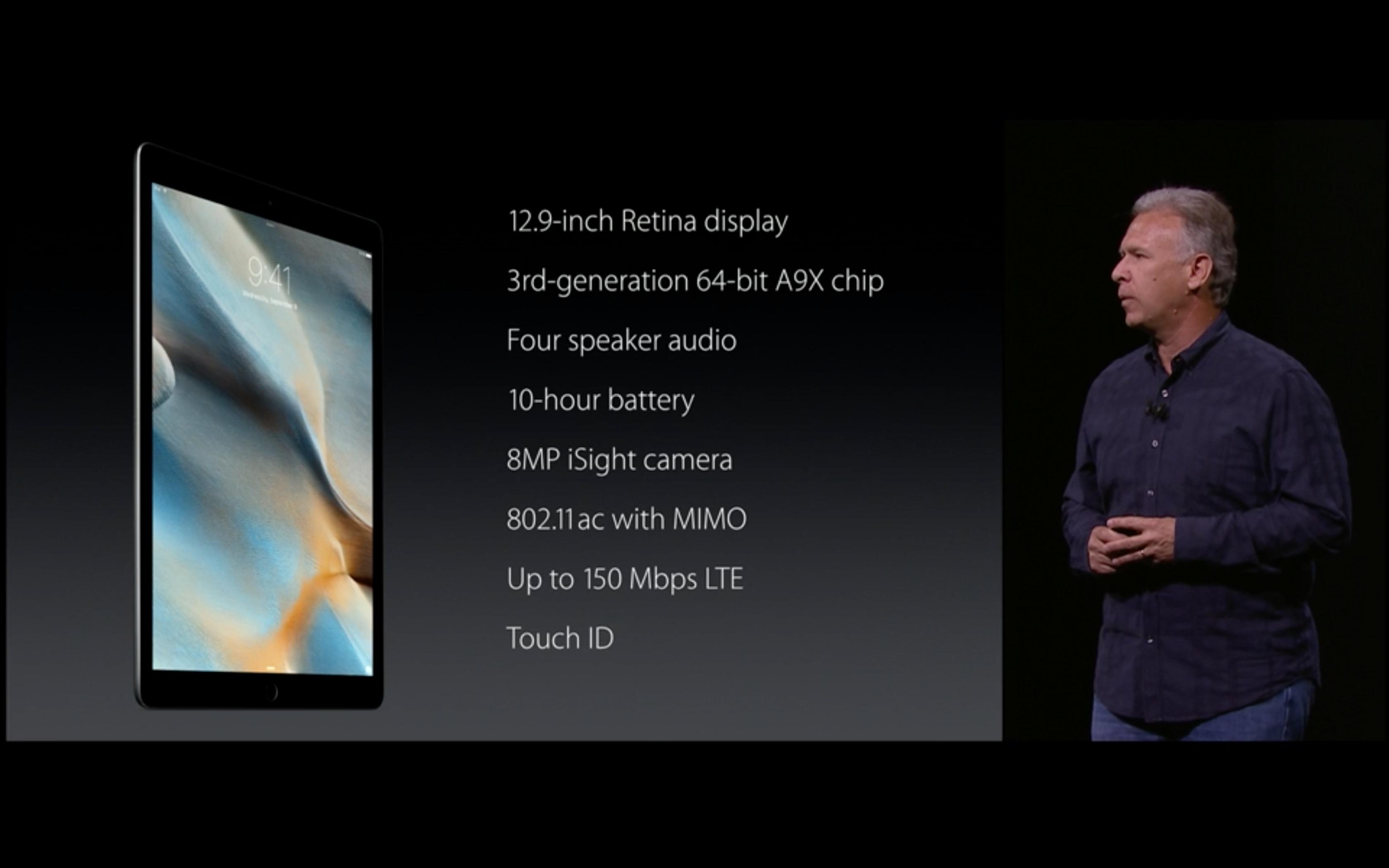 Specifiche tecniche iPad Pro