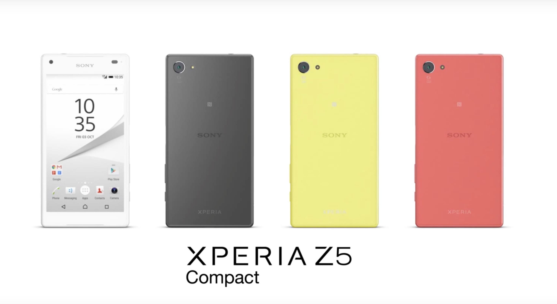 Xperia Z5 Compact range colori