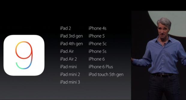iOS9 supportati