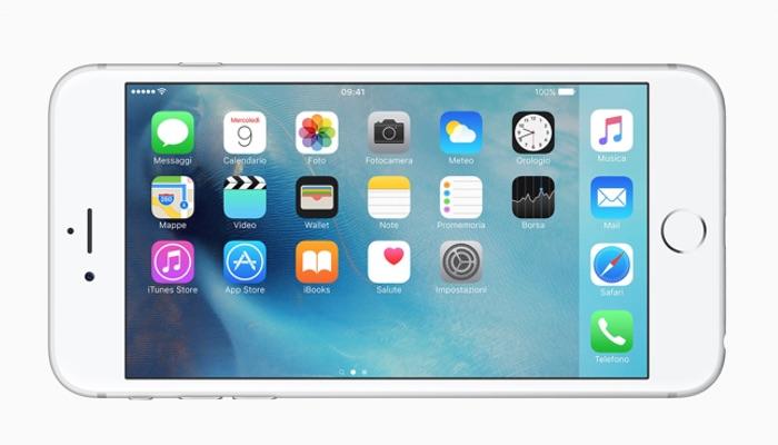 iPhone 6s Plus con iOS 9