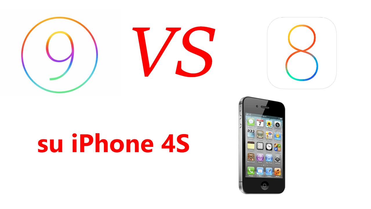 iOS 9 vs iOS 8 su iPhone 4S: il confronto