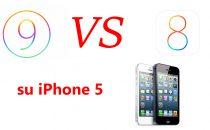 iOS 9 vs iOS 8 su iPhone 5: il confronto