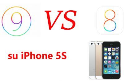 iOS 9 vs iOS 8 su iPhone 5S: il confronto