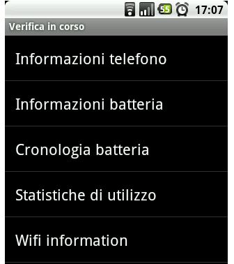 menu nascosto android