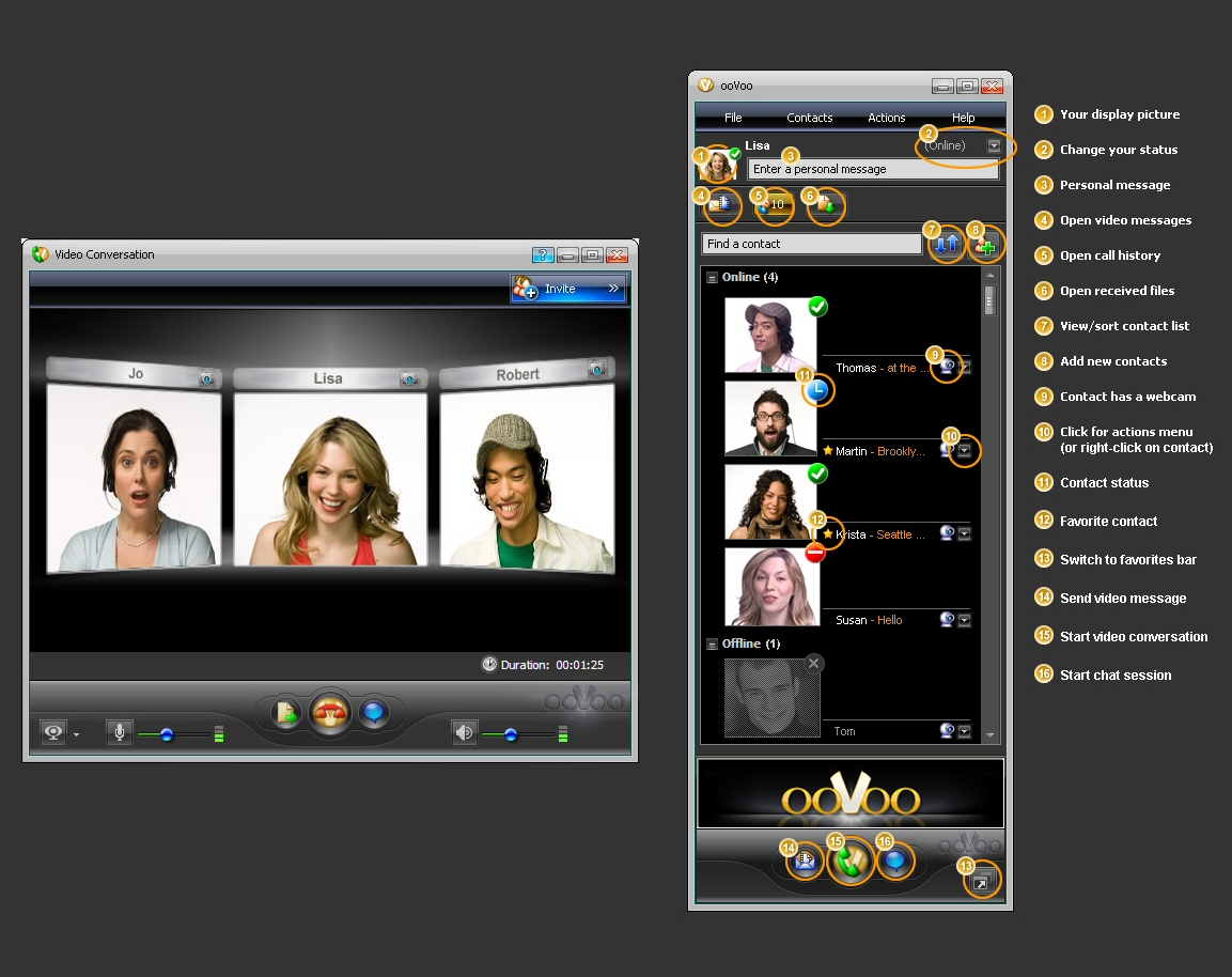 Oovoo per android tablet