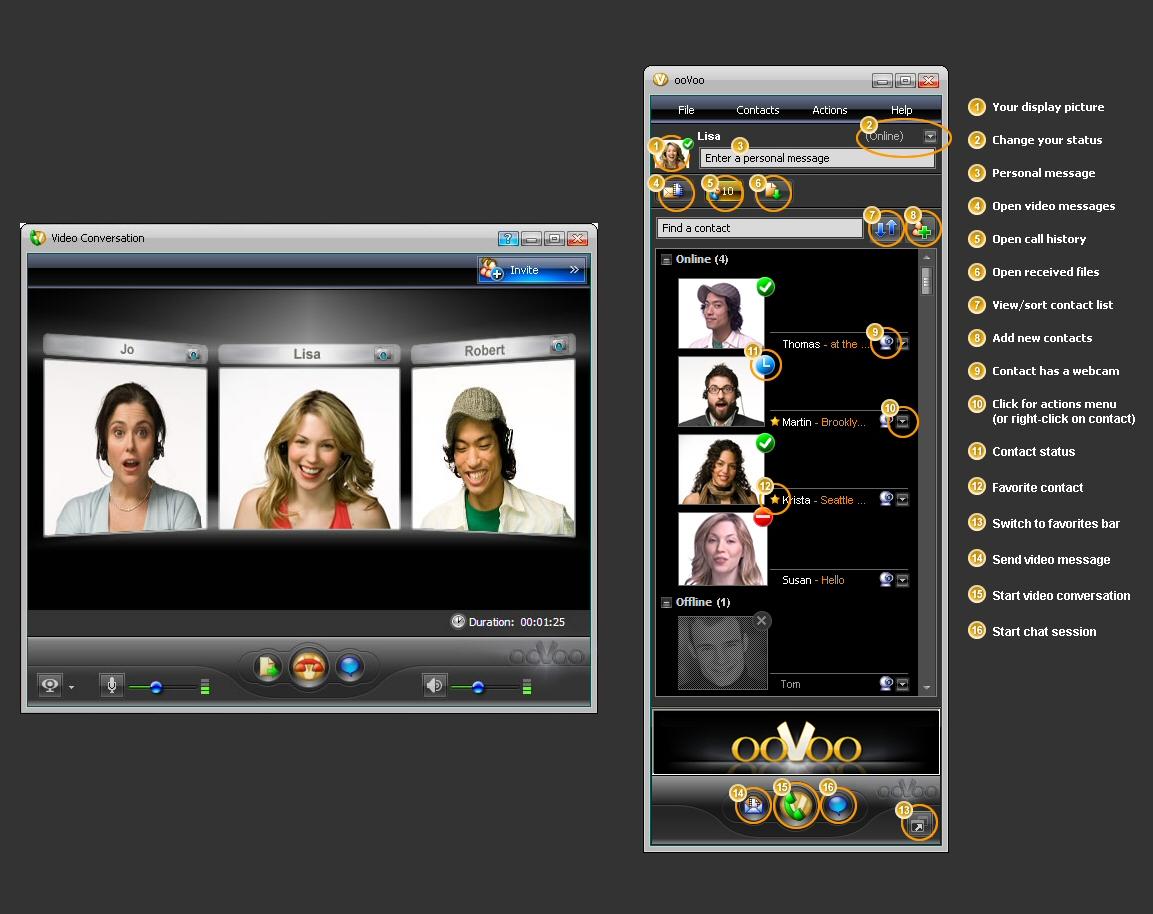 ooVoo l'alternativa gratuita a Skype per videochiamare anche in gruppo con gli amici