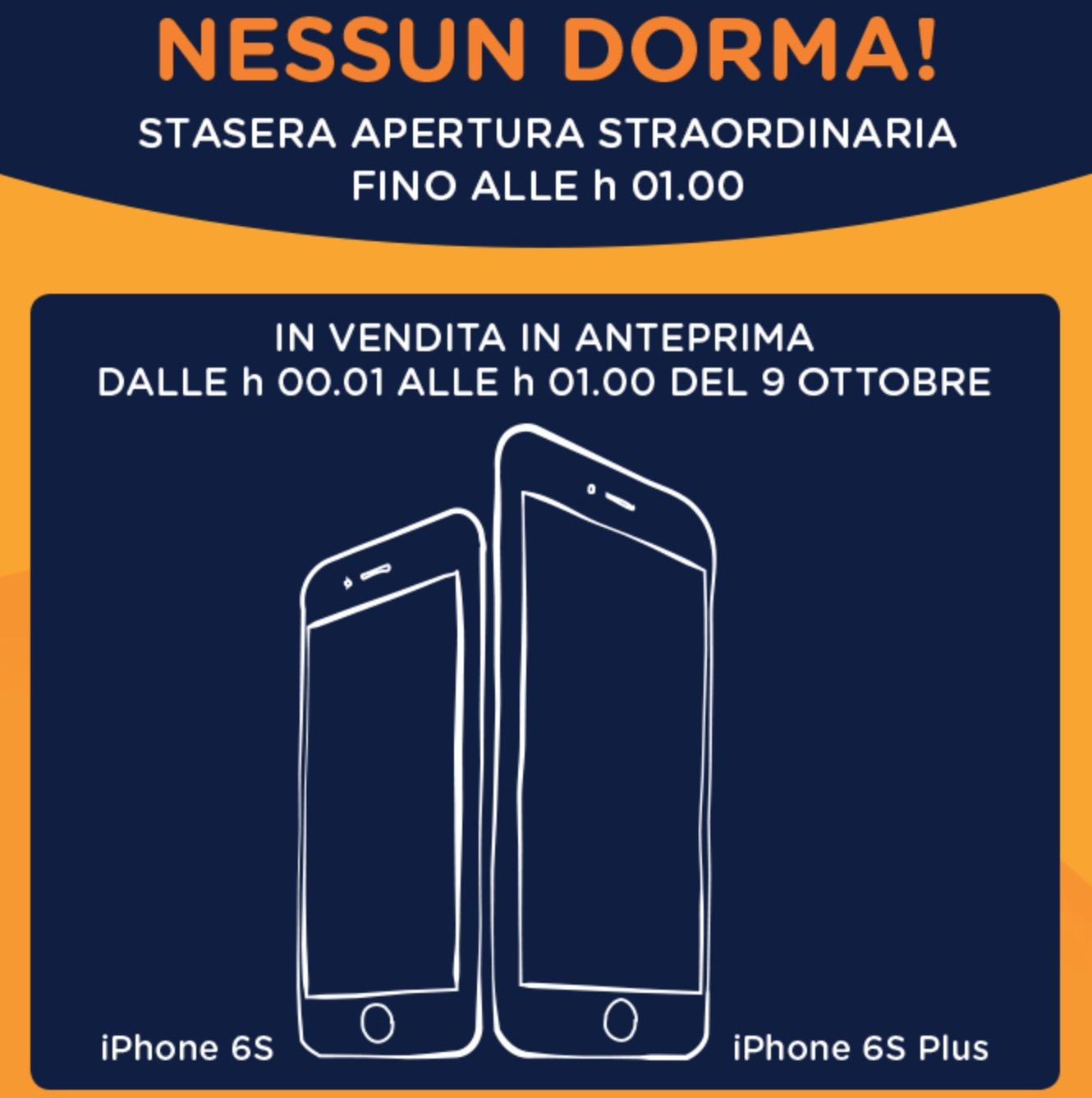 Notte Bianca iPhone 6s Unieuro