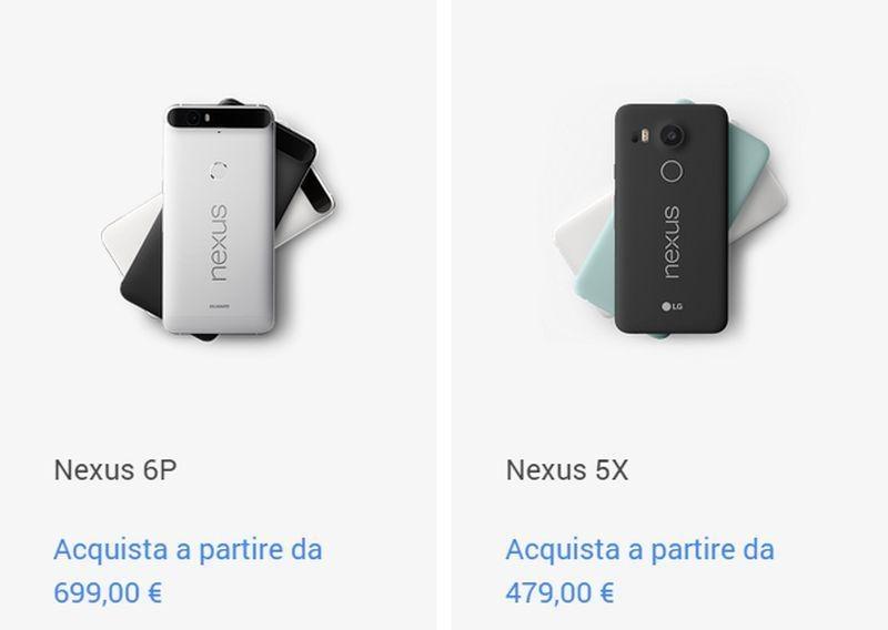 Prezzi Nexus 5X