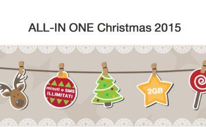 Tre ALL-IN ONE Christmas 2015, la promozione natalizia di H3G