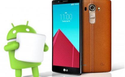 LG G4 in aggiornamento a Android 6.0 Marshmallow per primo