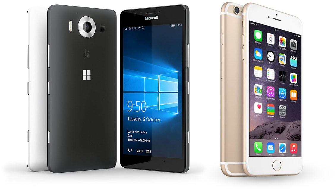 Lumia 950 vs iPhone 6S: paragone e confronto