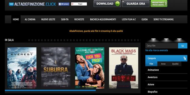 Altadefinizione: film gratis in streaming online