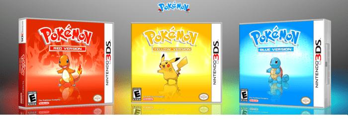 Nintendo 3DS: in arrivo Pokémon Rosso, Blu e Giallo