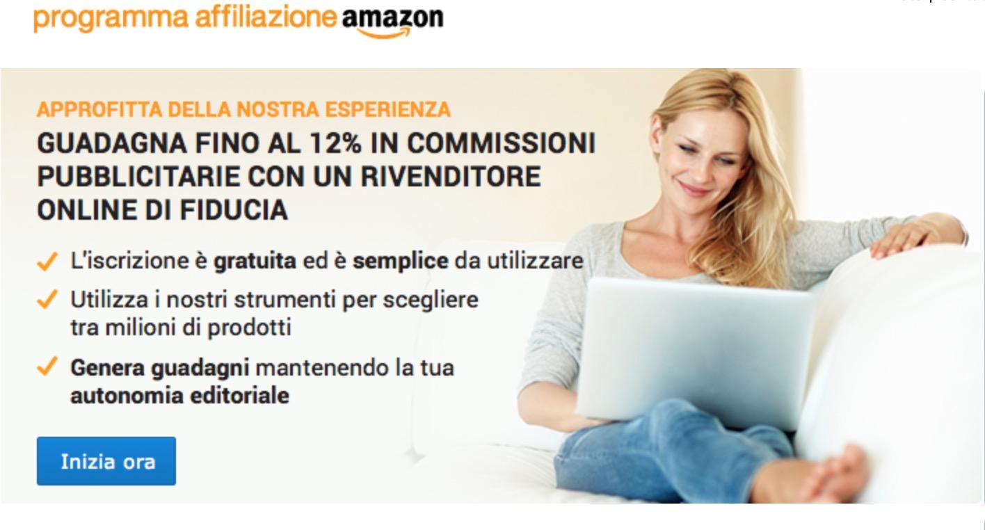 Programma affiliazione Amazon guadagni
