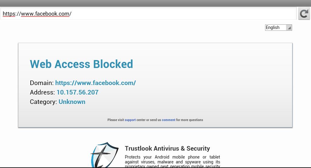 Siti bloccati Android
