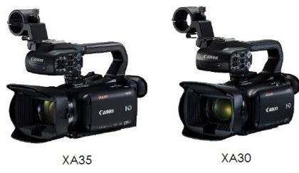 Canon XA35 e XA30: prezzo e caratteristiche