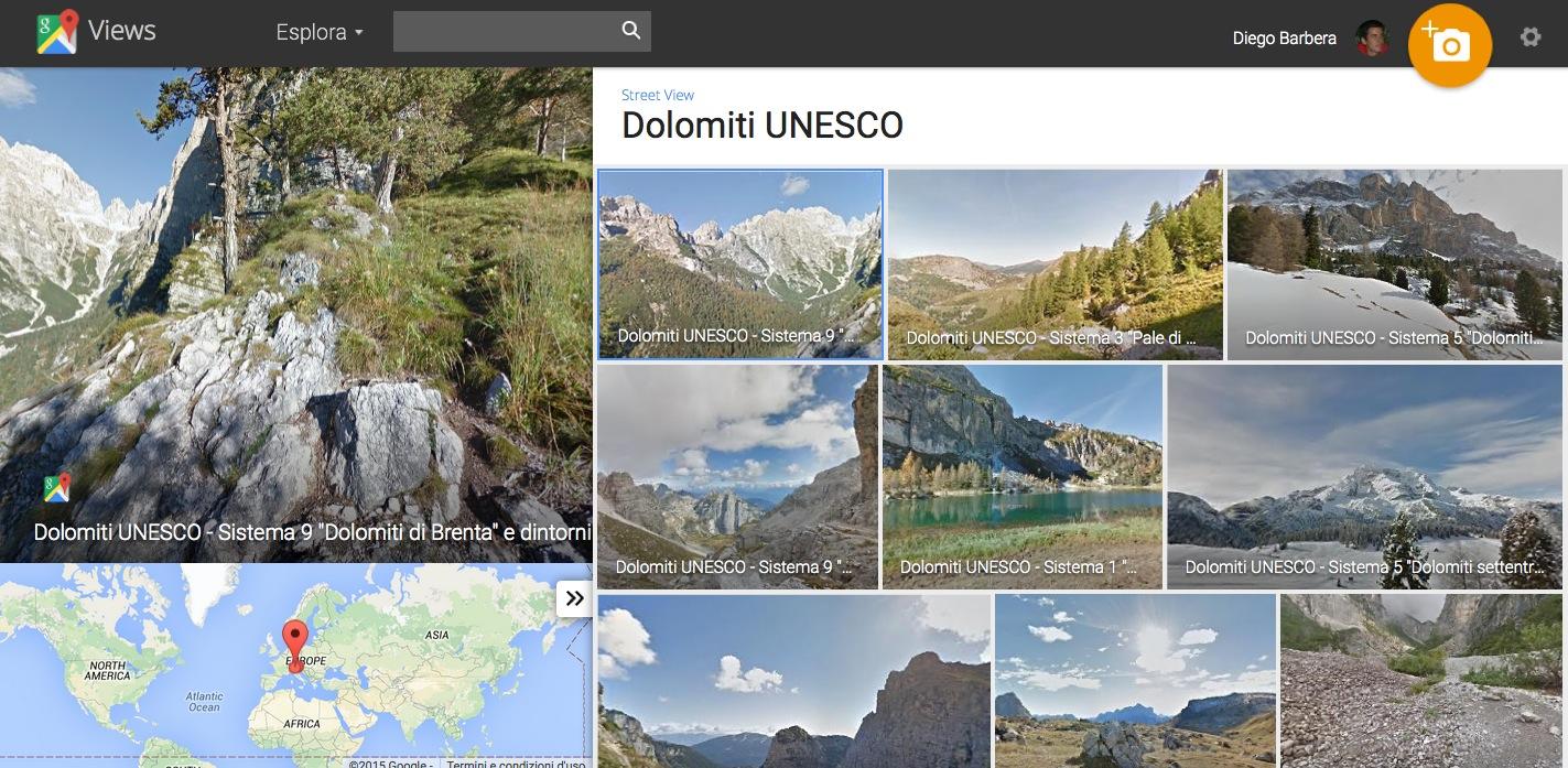 Google Maps sulle Dolomiti