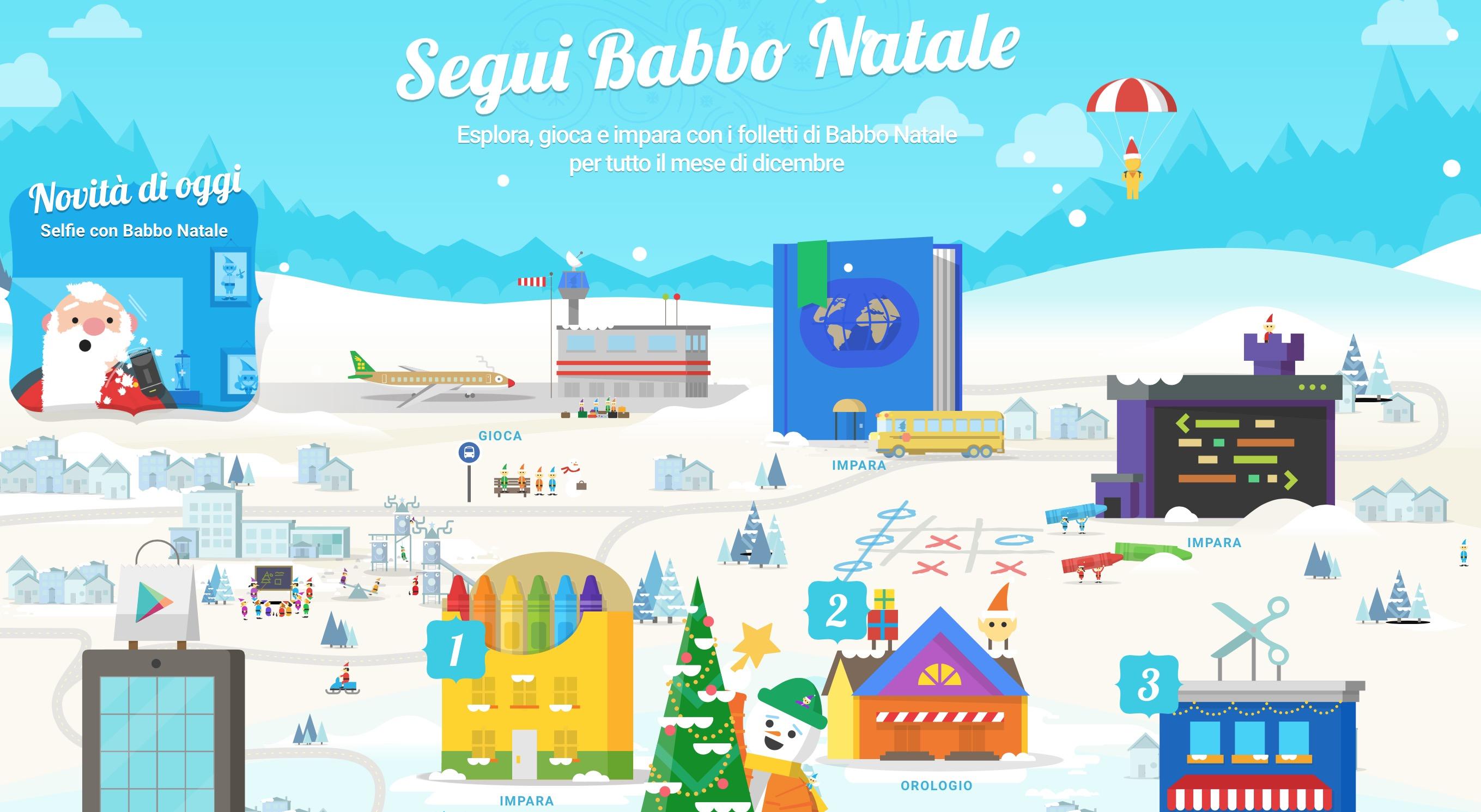 Google Santa Tracker 2015: ritorna il villaggio di Babbo Natale
