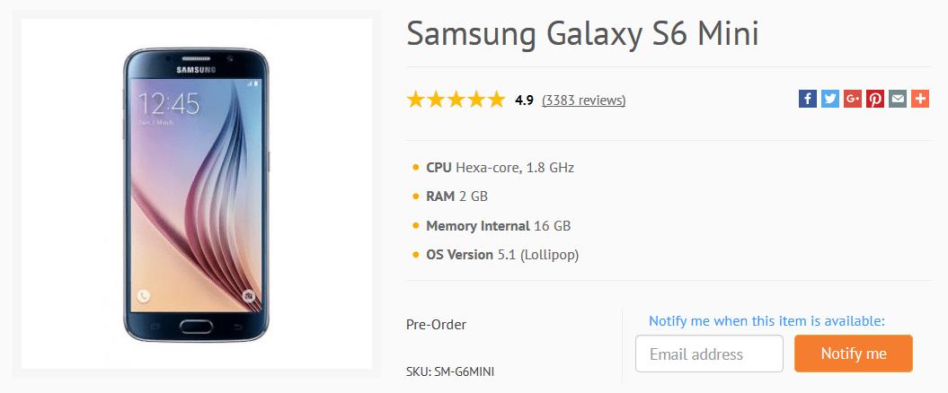 Samsung Galaxy S6 Mini in uscita? Rumors su scheda e prezzo