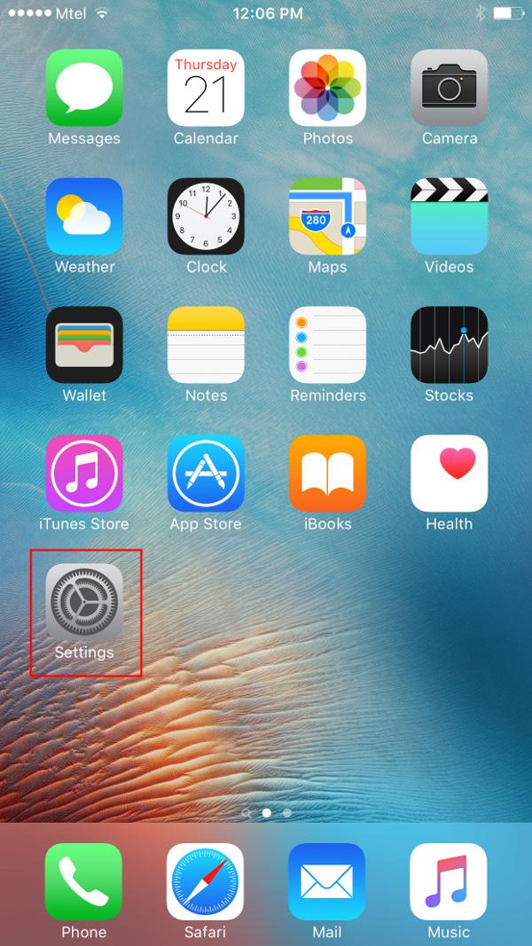 Impostazioni iPhone