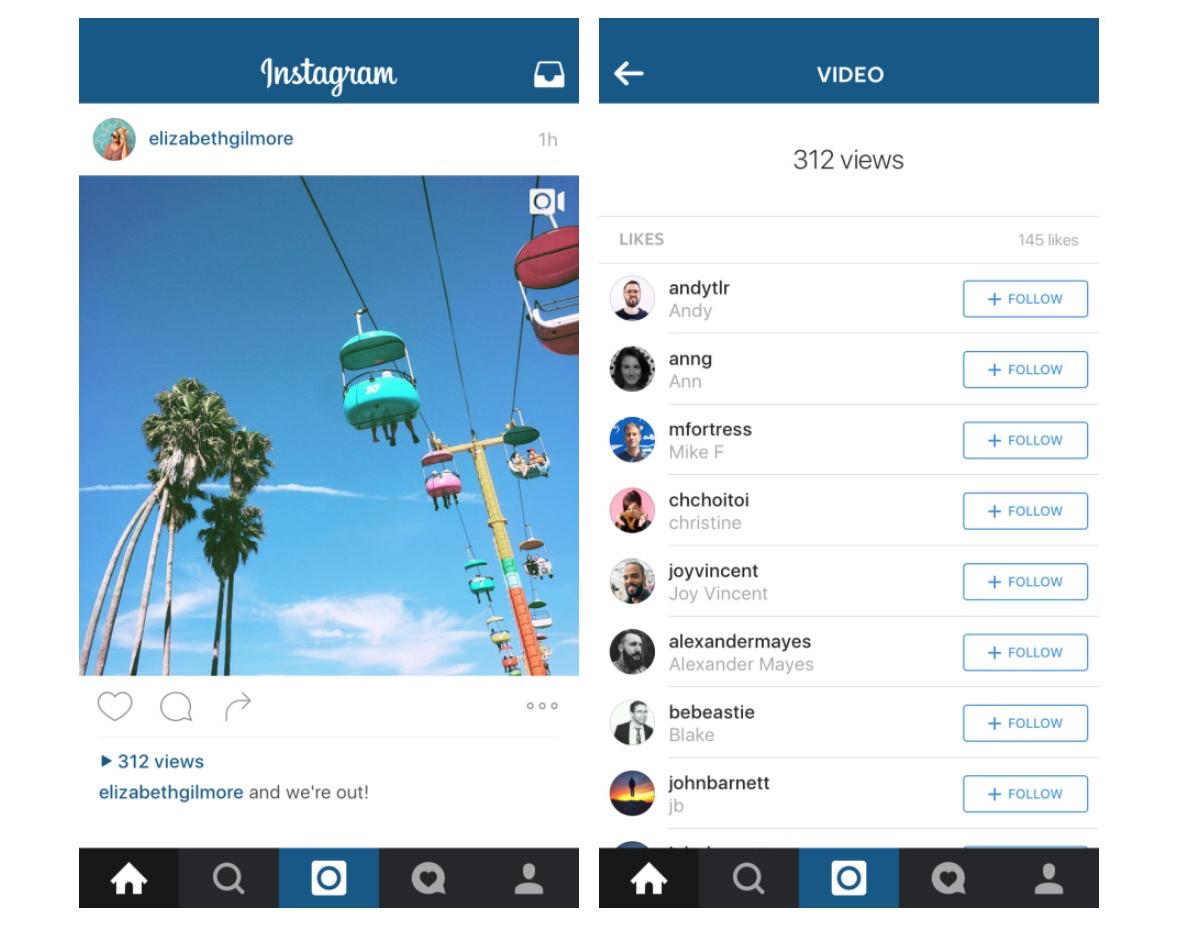 Contatore video Instagram