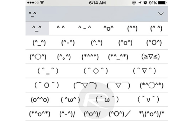 Emoticons segrete iPhone
