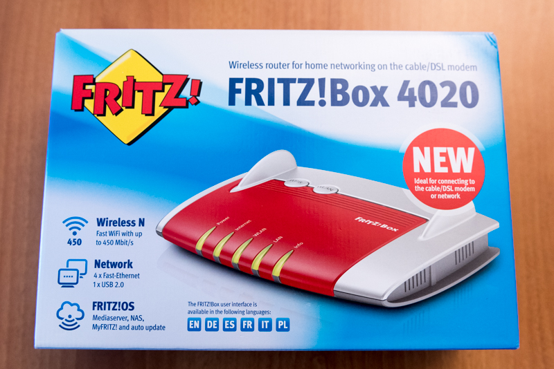 FRITZ!Box 4020 scatola router