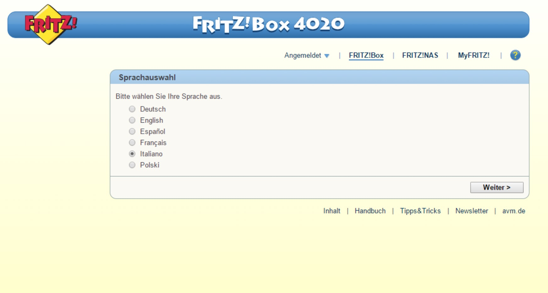 FRITZ!OS sistema operativo FRITZ!Box 4020