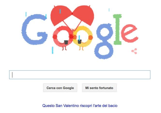 San Valentino 2015 Google Doodle