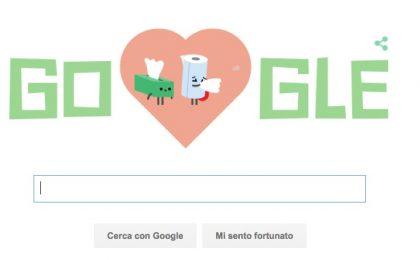 San Valentino 2016: il simpatico Doodle di Google